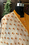 handwoven chanderi dupatta - marigold fields & bloom