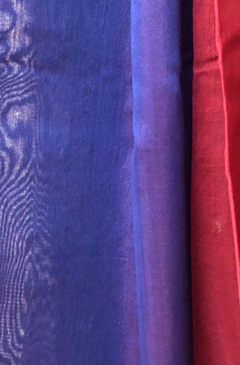 handwoven chanderi saree - ruby red & celebrations