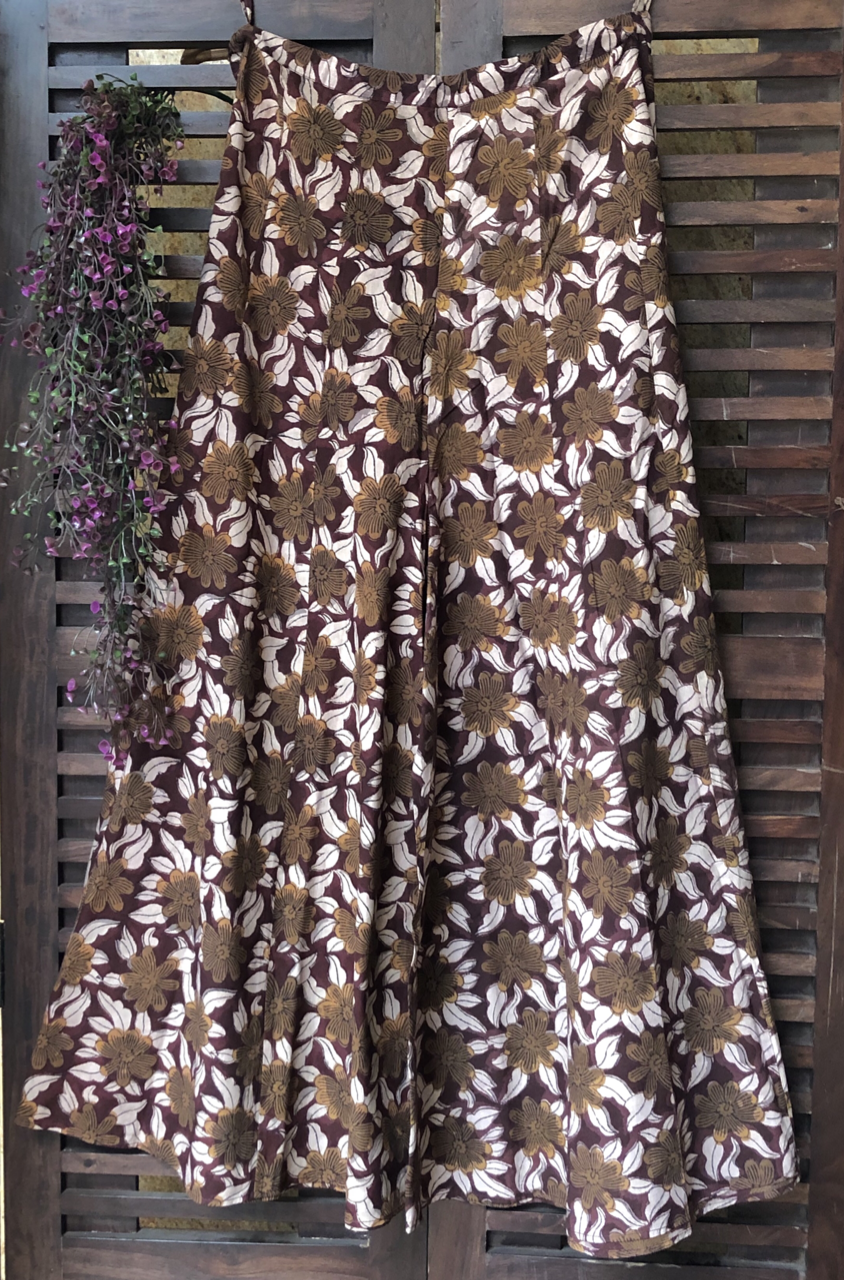 printed sharara - wine & forest