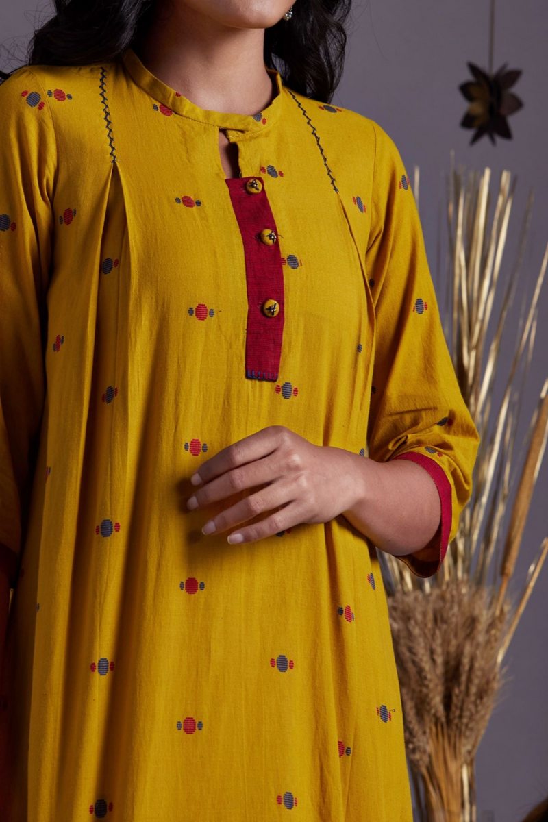 box pleat dress - sunbeam & mustard fields