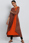 double patti dress - orange & buttis