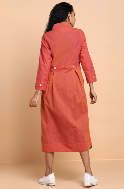 peter pan jacket + dress - ravishing coral & indigo stripes