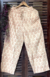 elasticated printed pants - beige & morpankh