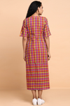 button down dress with patch pocket - many colours & checks