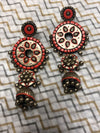 jewelry - terracotta - orange & gold jhumki