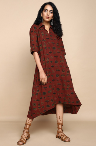 bias shirt dress - madder & botanical