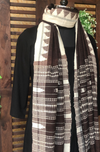 handwoven kotpad dupatta - brown earth & mandala