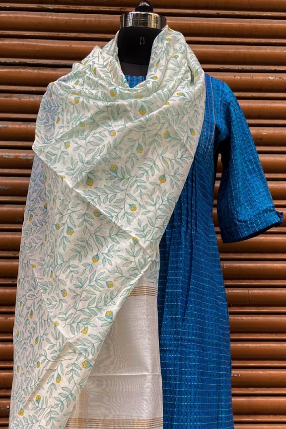 handwoven chanderi dupatta -  light summer & symphony