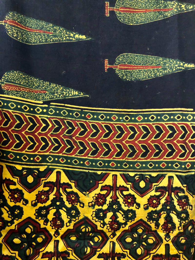 modal ajrakh dupatta - night sky & pine forest