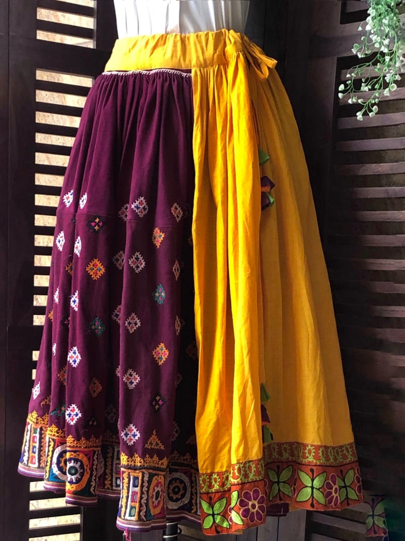 kutchi vintage skirt - sunshine & border