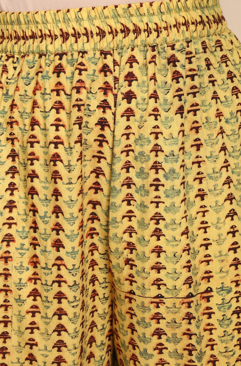 elasticated printed pants - vintage & fishes