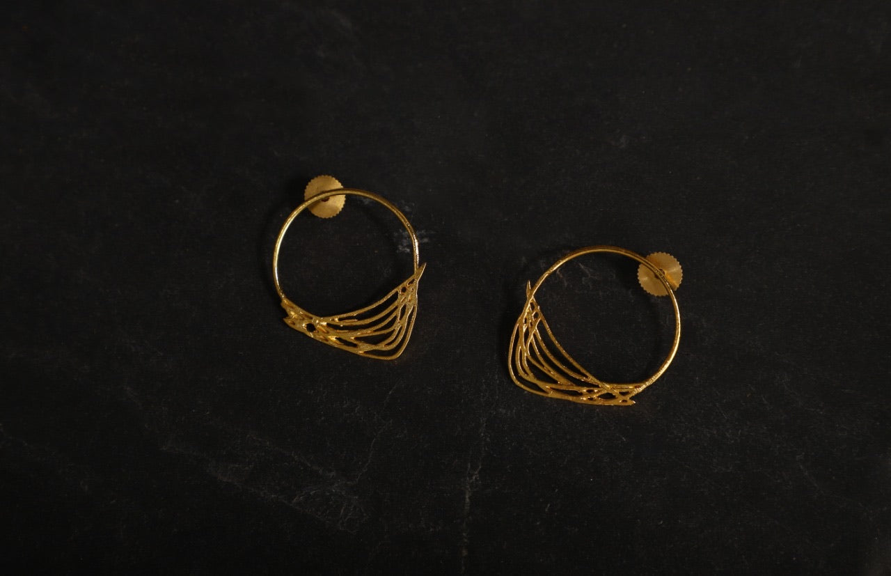 jewelry - berserk - gold plated abstract ring studs