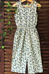 kidswear - blue fish print jumpsuit