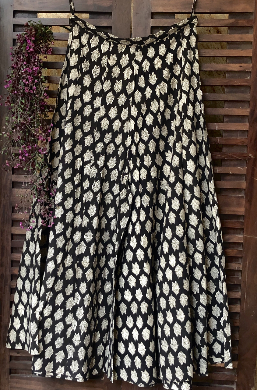 printed sharara - ebony & buttis