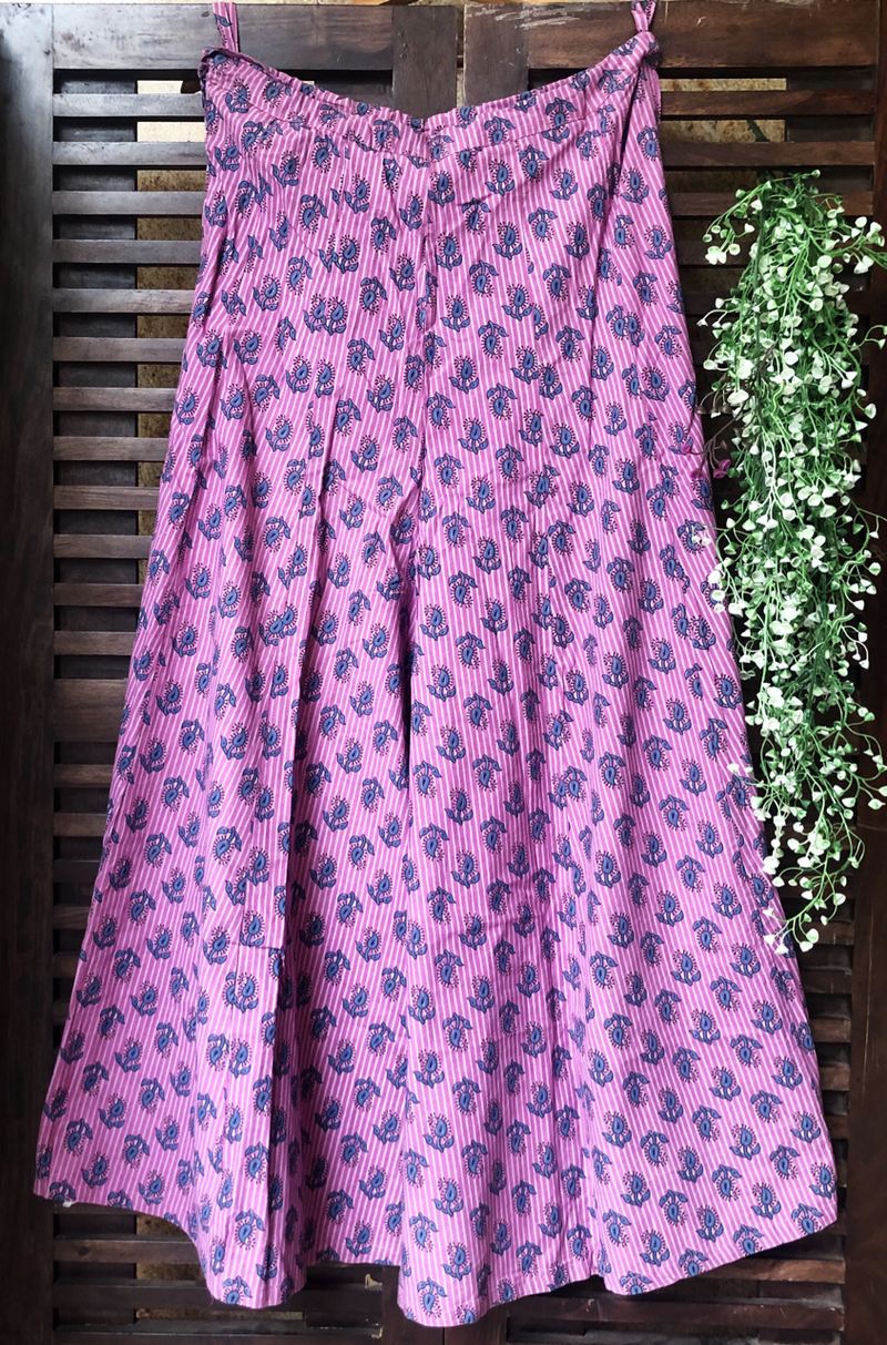 printed sharara - pink & buttis