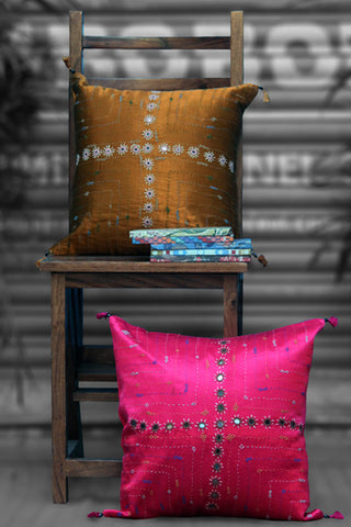 mashroo cushion cover - caramel ochre