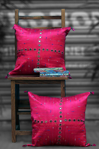 mashroo cushion cover - rani pink
