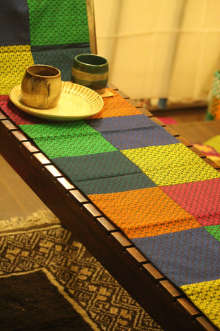 kale nele - multi color khunn patch work table runner