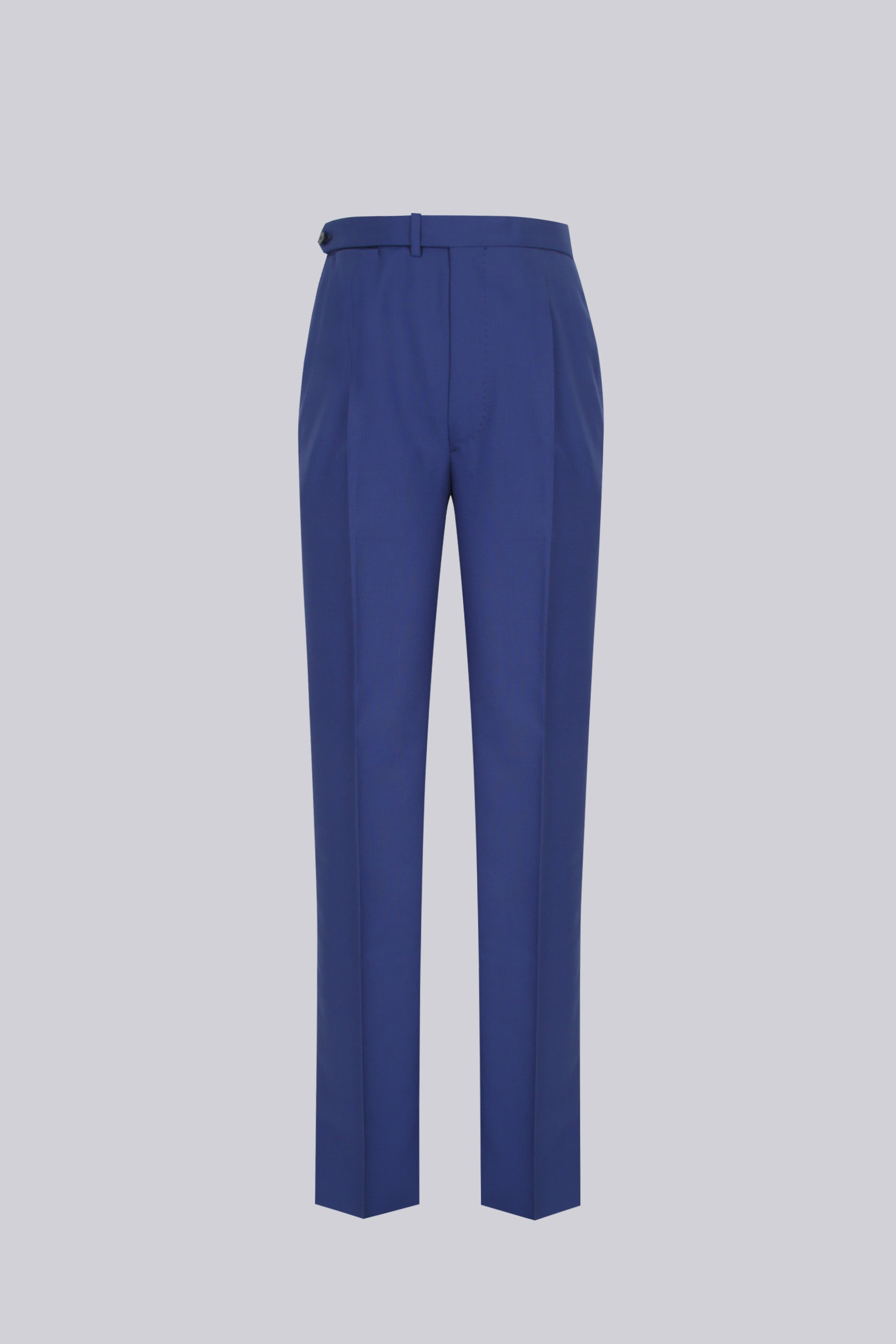 207 Single-pleated in blue wool