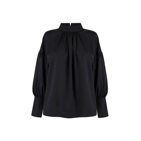 Amy Black Cotton Blouse - Space to Show