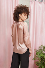 2 in 1 Luna Blouse Dust Pink - Space to Show