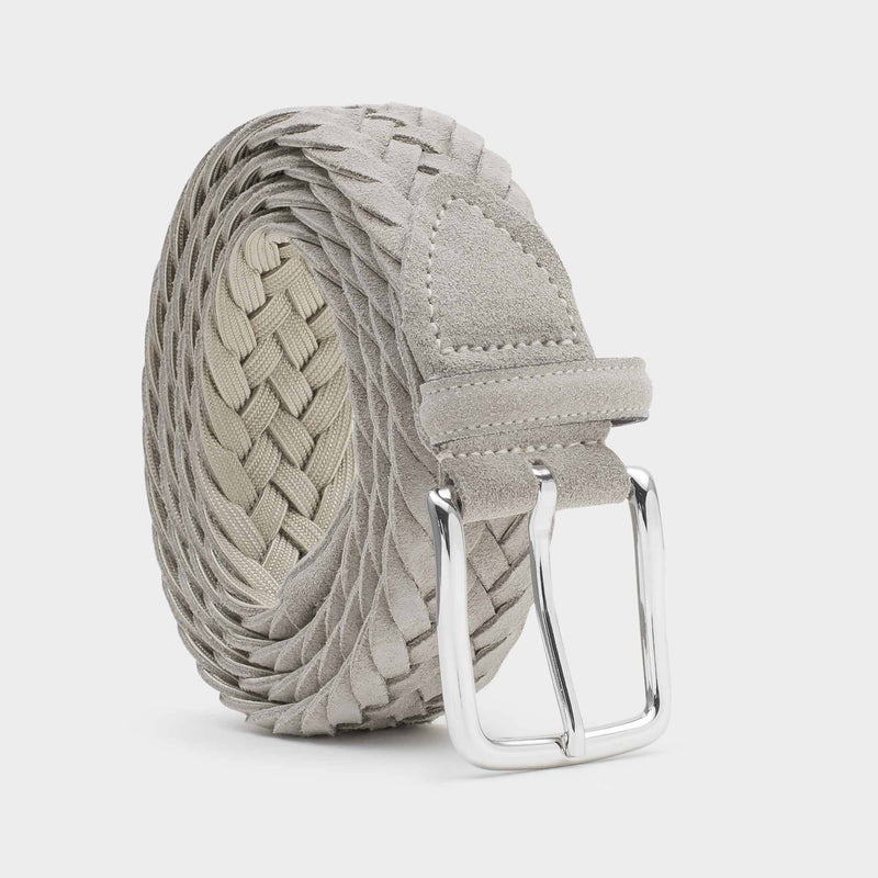 Braided Suede Belt Sand - Gianluca - Space to Show