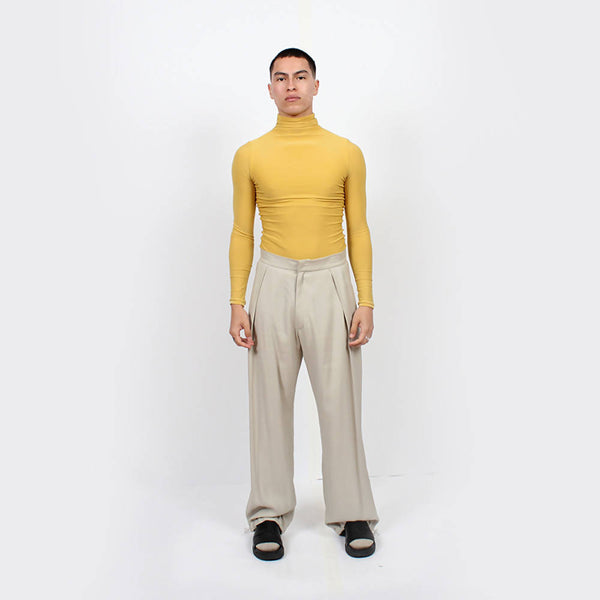 Slinky Turtleneck : Curry - Space to Show