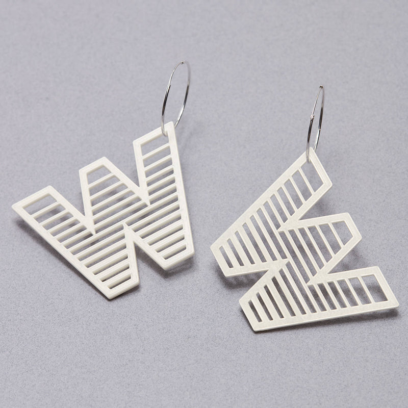 'W' Statement Earrings - Space to Show
