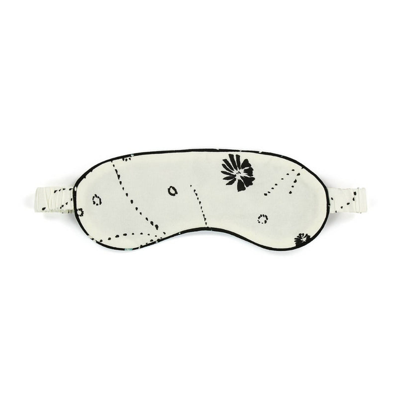 Ivory Silk Printed Eye Mask - Space to Show