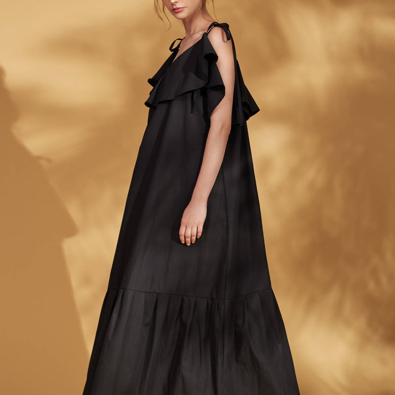 Stella Black Maxi Dress - Space to Show
