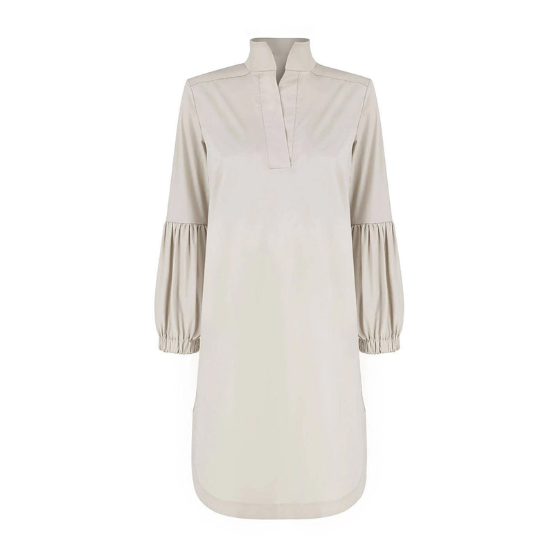 Colette Beige Cotton Dress - Space to Show