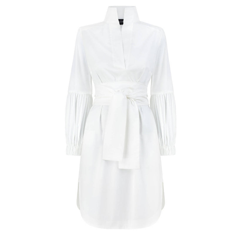 Colette White Cotton Dress - Space to Show