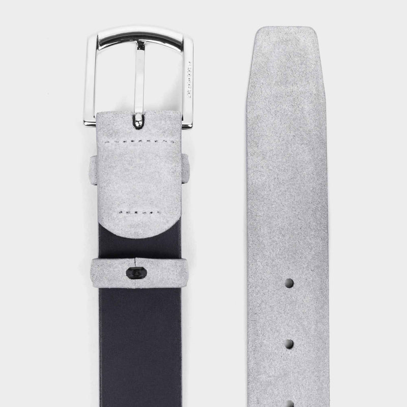 Handmade Leather Belt Grey - Norberto - Space to Show