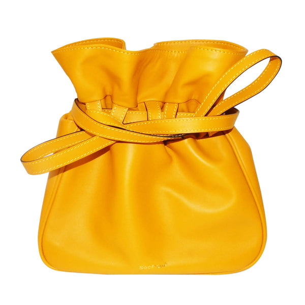 Sacfleur leather bag in yellow - Space to Show