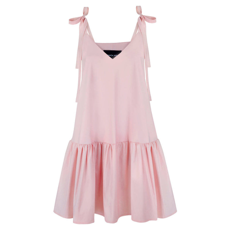 Margo Pink Cotton Dress - Space to Show