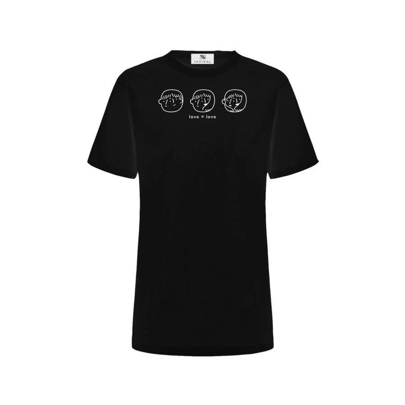 LOVE = LOVE T-shirt Black - Space to Show