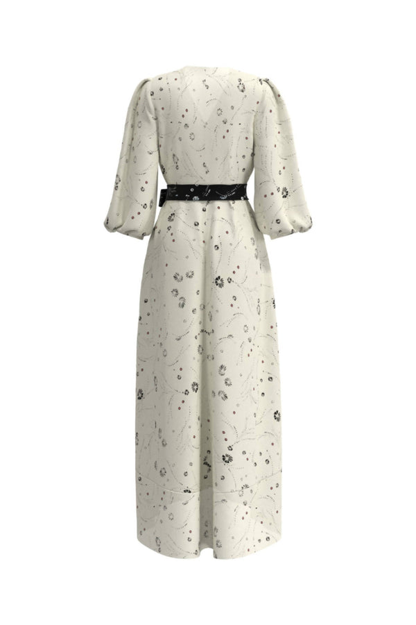 Leilani Ivory Print Midi Dress - Space to Show