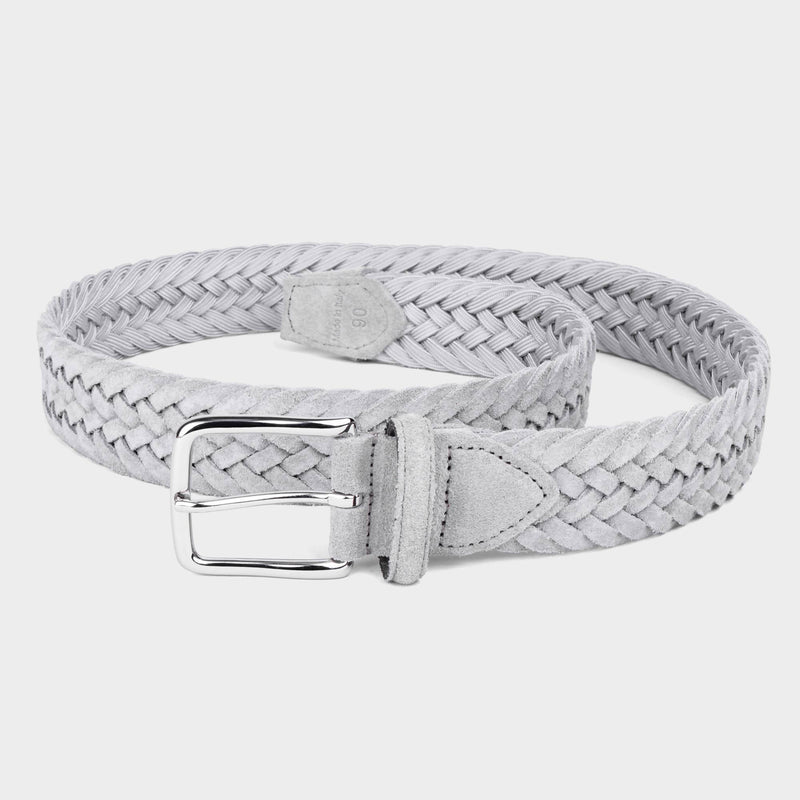 Braided Suede Belt Grey - Norberto - Space to Show
