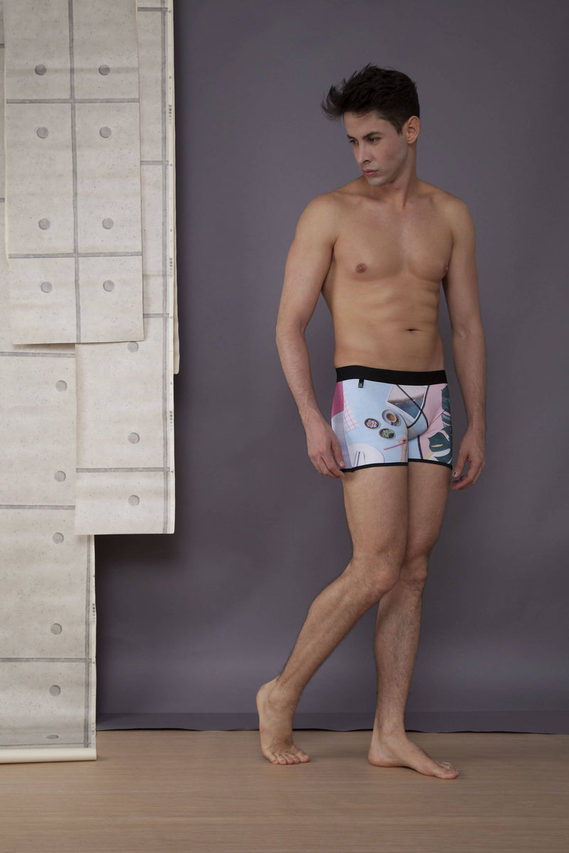 Men's boxer briefs / No.: UN16032 / Design title: my journal - Space to Show