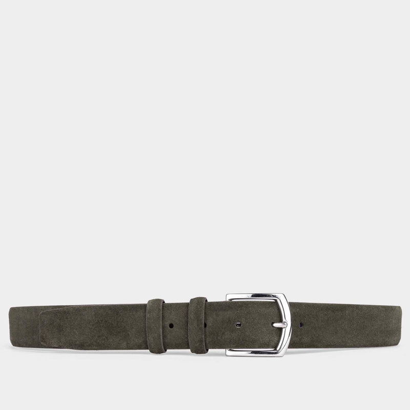 Handmade Leather Belt Green - Giuseppe - Space to Show