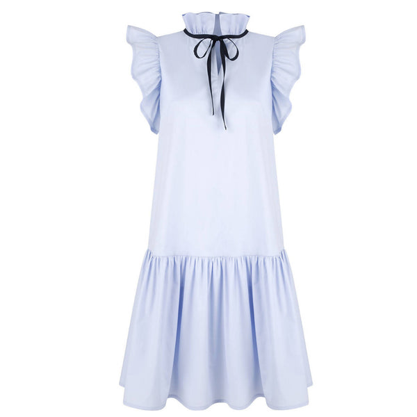 Angela Baby Blue Cotton Dress - Space to Show