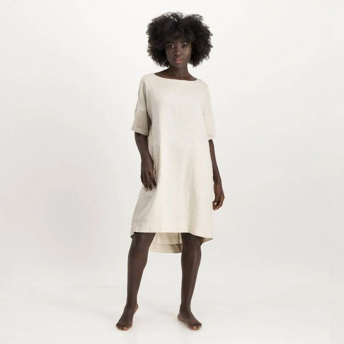 LUNAR karen dress - natural - Space to Show