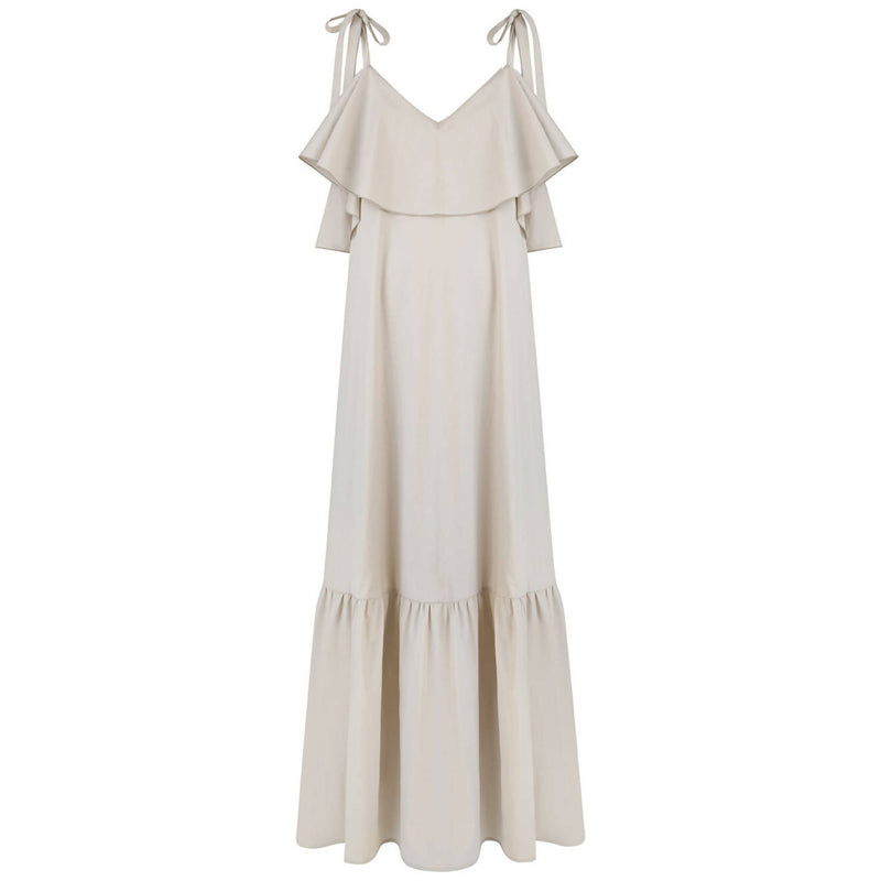 Stella Beige Maxi Dress - Space to Show