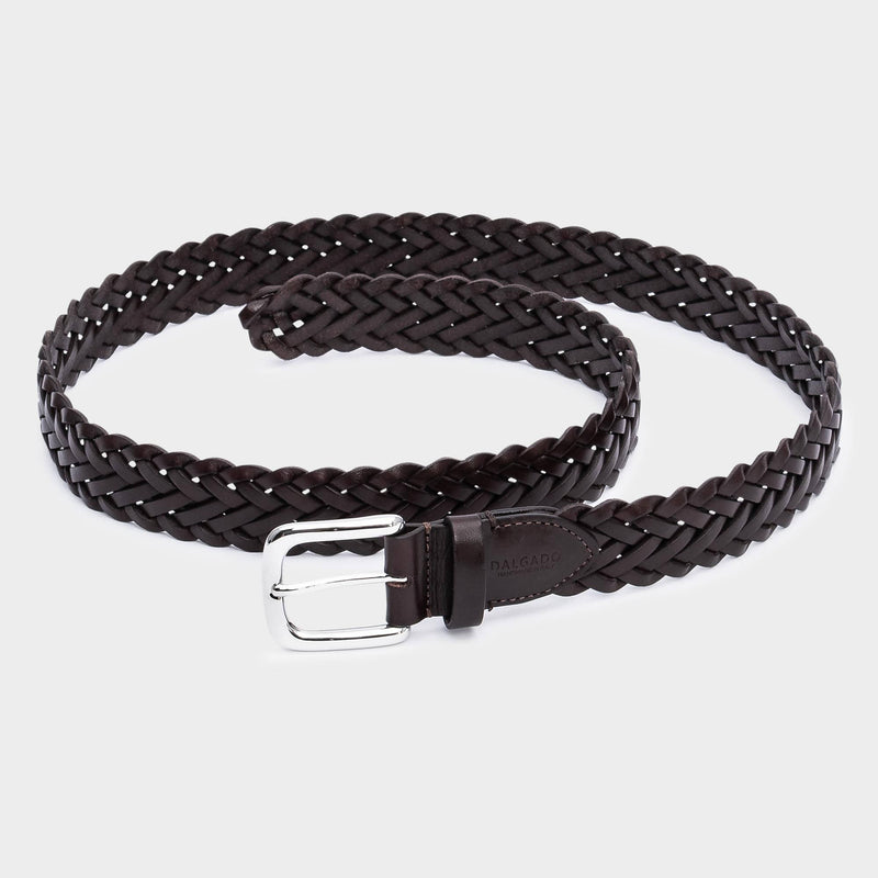 Hand-braided Leather Belt Brown - Leonardo - Space to Show