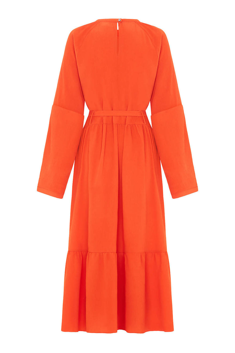2 in 1 Nora Dress Orange Red - Space to Show