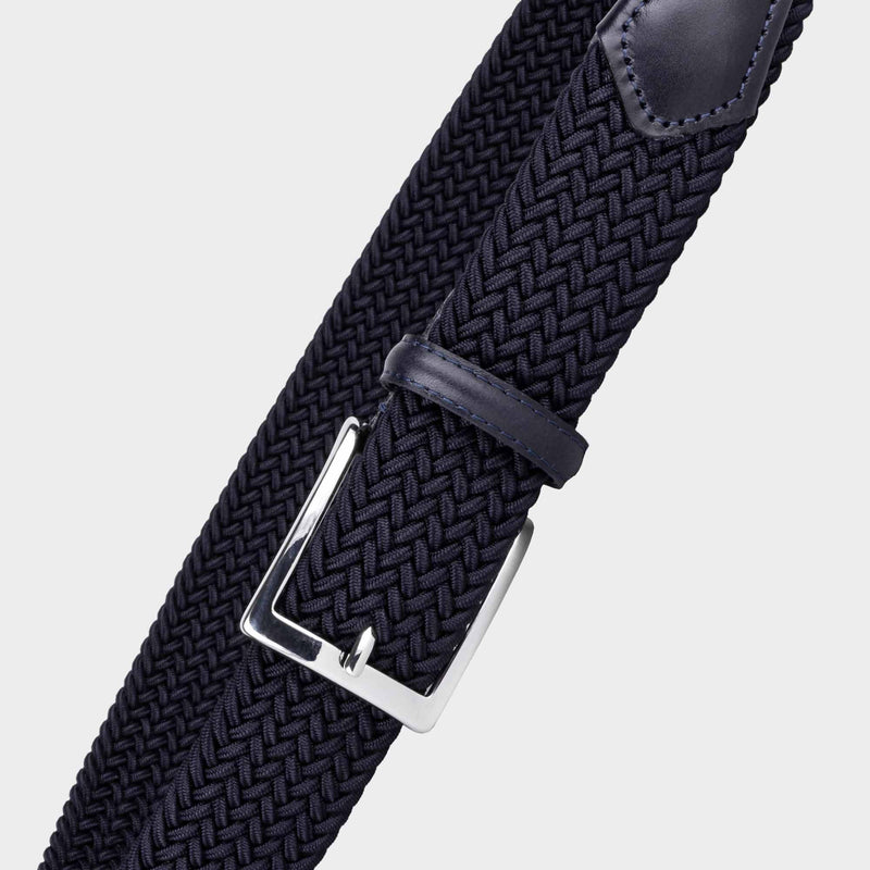 Elastic Viscose Belt Blue - Enrico - Space to Show