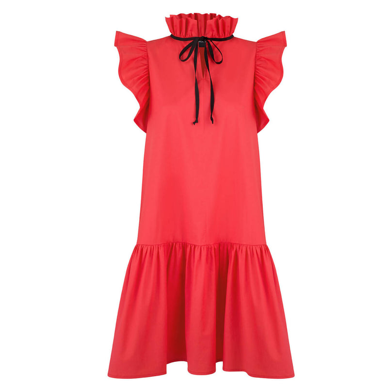 Angela Coral Cotton Dress - Space to Show