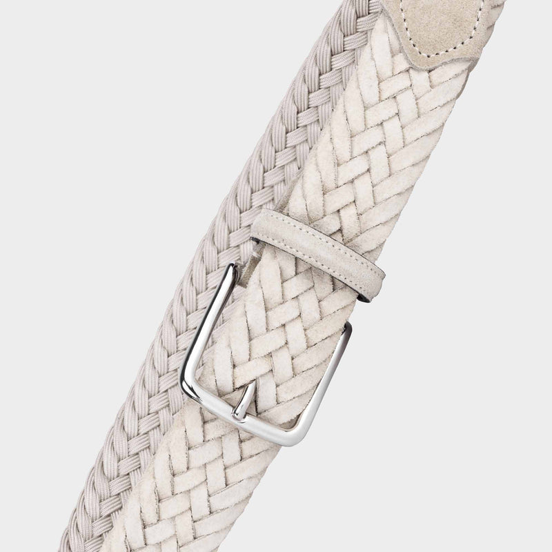 Braided Suede Belt Beige - Patrizio - Space to Show