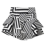 Poppy Geometric Print Asymmetric Mini Skirt - Space to Show