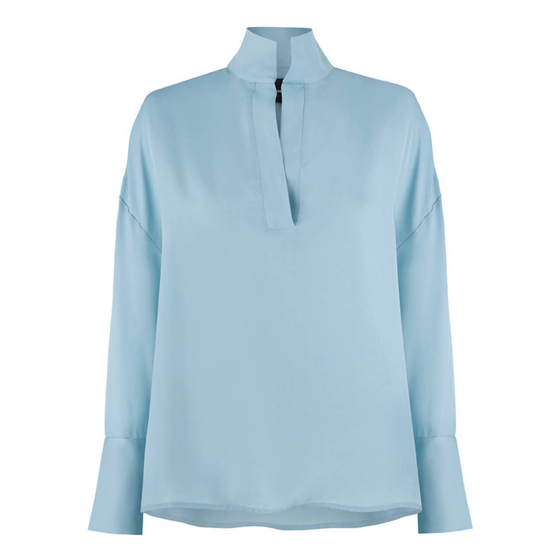 Grace Blue Cupro Shirt - Space to Show